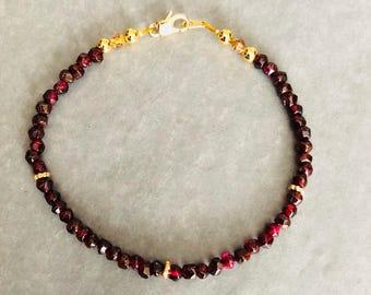 Glorious Garnet and Gold Bracelet
