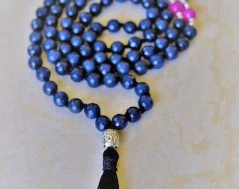 Onyx mala beads from India