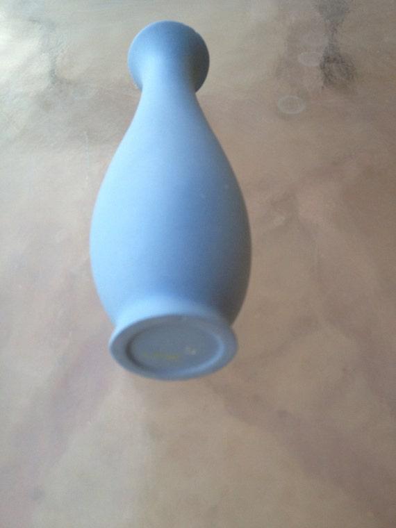 Blue Bud Vase Cameo Wedgwood Style Blue Vase Cameo Blue