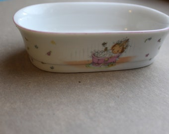 Vintage Hallmark Bath Collection Soap Dish - Betsey Clark