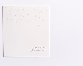 "Greeting Card ""Confetti (German)"""