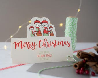 family christmas card - personalised family christmas card