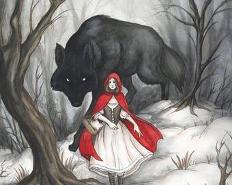 Little Red Riding Hood 11x14 Art Print