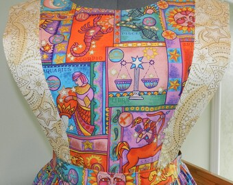 Sun Sign-Astrology pinafore apron
