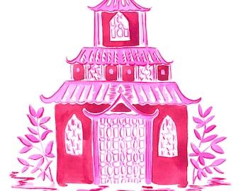 Pink Pagoda Print