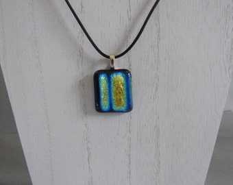 Sale; Dichroic Pendant; Dichroic Jewelry; Dichroic Fused Glass; Fused Glass Necklace/PDB809
