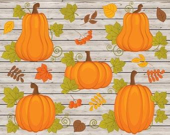Pumpkin Clipart - Vector Pumpkins Clipart, Pumpkin Clipart, Rustic Clipart, Harvest Clipart, Pumpkin Clip Art, Pumpkin Clip Art
