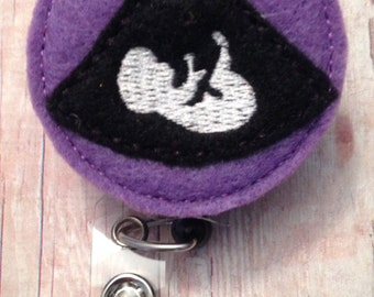 Sonogram/ultrasound/imaging tech badge reel -- perfect for any sonogram tech, ultrasound tech, or imaging tech