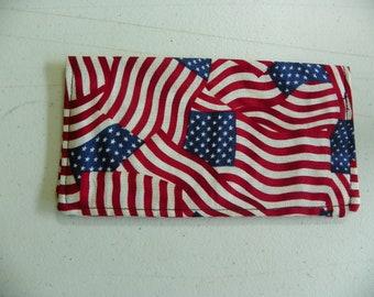 American Flag Patriotic check book cover