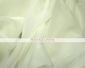 """10 YARDS 30 ft Voile Fabric 118"""" Wide - Sheer Voile Drape Drapery Fabric Chiffon Fabric - IVORY"""