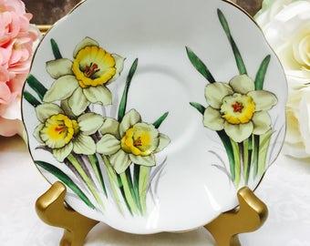"Royal Albert hand painted  ""Daffodil"" orphan saucer"