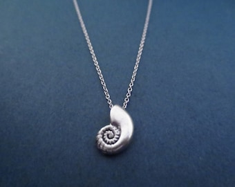 Ariel voice, Seashell, Silver, Necklace, Ariel, Shell, Mermaid, Necklace, Birthday, Best friends, Sister, Gift, Jewelry