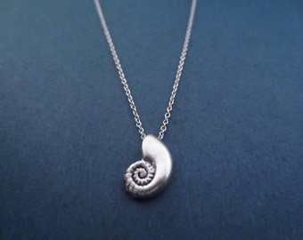 Ariel voice, Seashell, Antique, Silver, Necklace, Ariel, Conch, Mermaid, Necklace, Birthday, Best friends, Sister, Gift, Jewelry