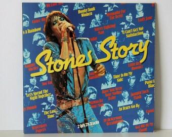 The Rolling Stones Stones Story  Poster Inside!  LP Vinyl Record  double Album