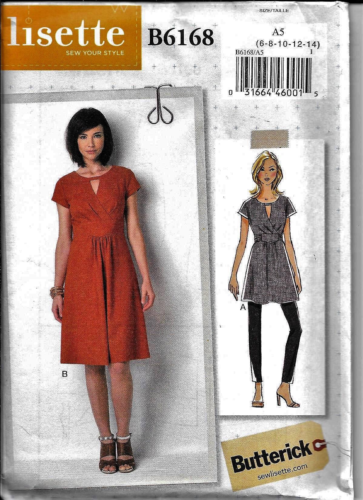 Butterick B6168 LISETTE Kleid oder Tunika Nähen Muster