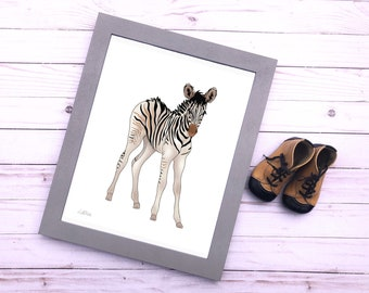 Nursery print Zebra Zoo animals baby gift digital Wall decor Safari African animals shower gift kids wall art printable art instant download