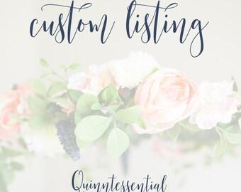 Custom Floral Mobile - Nursery Mobile - Floral Chandelier - Custom Nursery Decor - Baby Girl Mobile