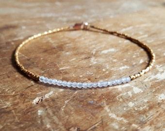 Rose Quartz Bracelet Rose Quartz Bracelets Women Gift for Her Wife Gold Beaded Bracelet Gemstone Bead Bracelet Rose Quartz LOVE Jewelry Gift