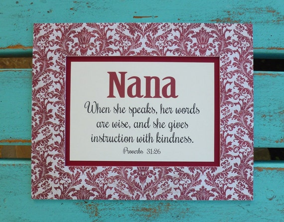 Mothers Day Scripture Gift For Nana Mimi Quote Grandma