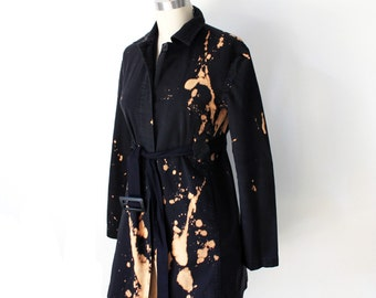 Black Raven Splattered Womens Trench size small