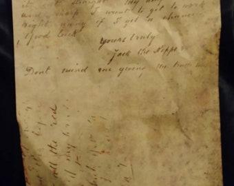 Dear Boss Letter - Jack the Ripper