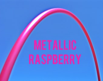"Metallic Raspberry 5/8"" HDPE Dance & Exercise Hula Hoop COLLAPSIBLE push button or minis"