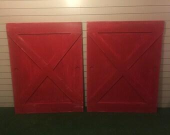red barn door. Rustic Red Barn Door