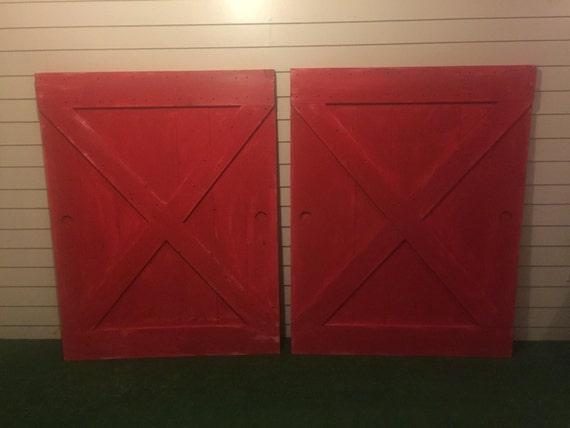 Rustic Red Barn Door From Slidingbarndoor On Etsy Studio