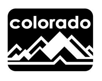 Colorado rocky mountains mountain vinyl decal sticker