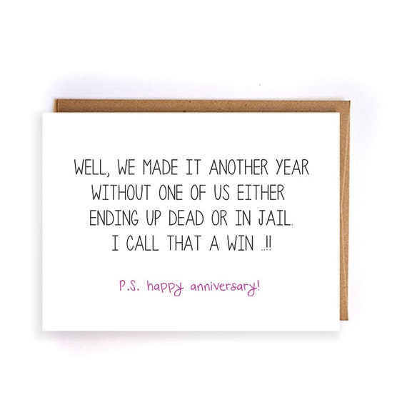 Anniversary Gift For Boyfriend Funny Anniversary Cards For
