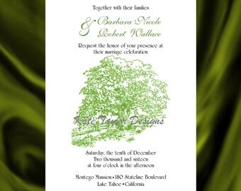 Apple Tree Wedding Invitation & RSVP - Tree Wedding Invitations -  Apple Tree Wedding Invitation - Tree Design 57