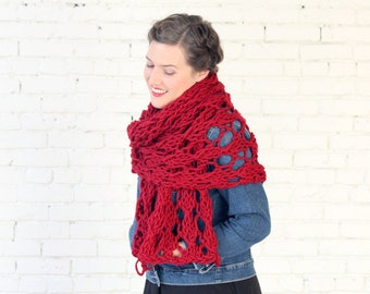 THE WISTERIA WRAP | 21 Color Choices | Chunky Knit Oversized Winter Wrap Scarf