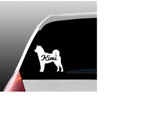 Personalized Akita Car Window Decal