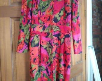 Worthington Spring Floral Dress - size 12P - retails 60