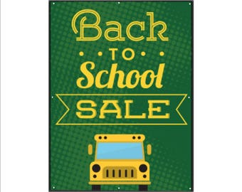 Back to School Sale Bus Vinyl Banner