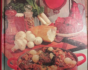 Meats - 1960s Antique Southern Cooking Cookbooks - Vintage Decorative 1960's Books & Home Decorating - Old Collectible 1960s 60s Cook Books