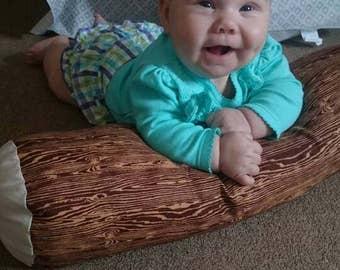 Log pillow, Play log, Plush log, Kids log pillow, Log cushion, Kids camping, Kids play camp, Pretend play, Storytime pillow, Photo prop