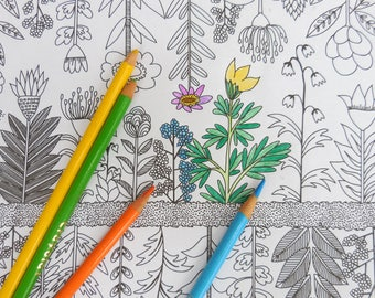 Coloring Pages for All Ages -- Floral Coloring Page