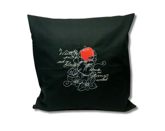 Dark Fairytale Cushion  Snow white