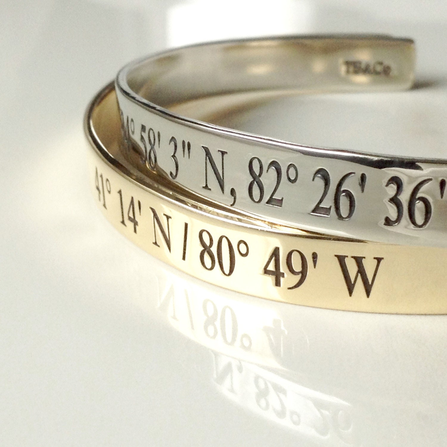 personalized stamped bracelet product family latitude new long lat coordinate jewelry hand forever cuff is longitude