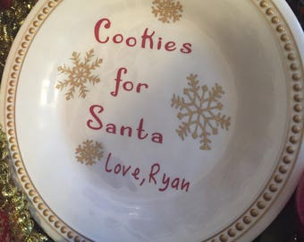 Customized Christmas Cookie Plate