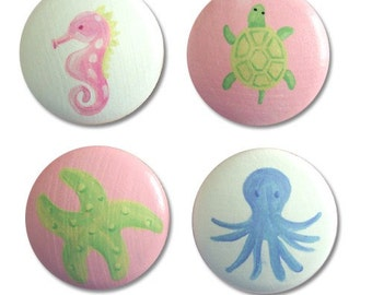 Girls Under the Sea Drawer Knobs pulls