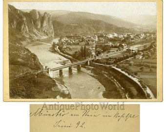 Munster Germany antique aerial cabinet photo