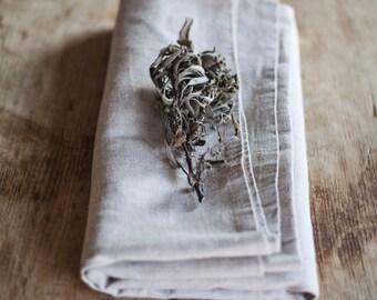 Linen Tablecloth / Natural Linen Tablecloth / Light Grey Tablecloth