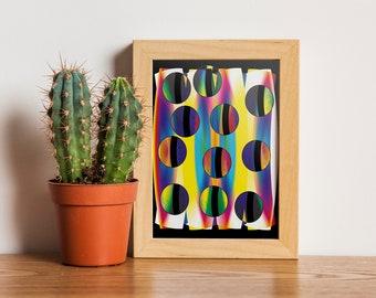 Circles / 14.5 x 21 cm / Yvan Hydar / Illustration / wall decor / Design