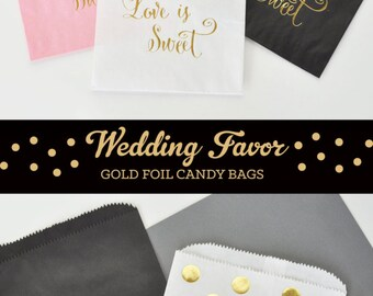 Paper Candy Bags - Wedding Favor Candy Bags -  Wedding Candy Buffet Bags - Wedding Favor Bags Bridal Shower Favor Bags (EB3038) set of 12