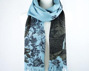 Blue Scarf - 100% Linen