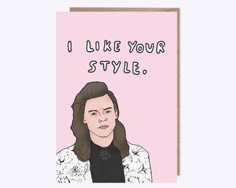 I Like Your Style | SEVENTEEN MAGAZINE | Illustration | Birthday Card, Friendship Card, Pun Card