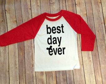 Disney Best Day Ever, Disney Shirt, Mickey Inspired, Disney Shirt for Boys, Disney Family Shirts, Mickey Shirt, Boys Mickey Shirt