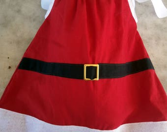 Christmas Pillowcase Dress -  Santas Dress -  Red, White, and Black